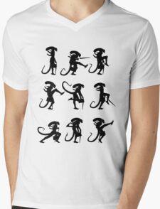 Ministry of Alien Silly Walks (Black Version) Mens V-Neck T-Shirt