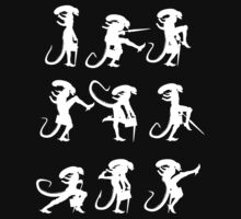 Ministry of Alien Silly Walks (White Version) by Vincent Carrozza