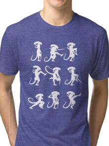 Ministry of Alien Silly Walks (White Version) Tri-blend T-Shirt
