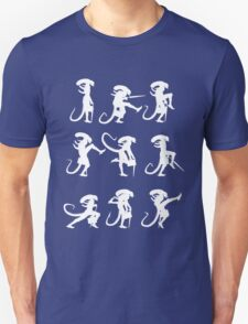 Ministry of Alien Silly Walks (White Version) T-Shirt