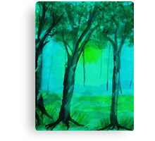 Going into the mist, watercolor Canvas Print