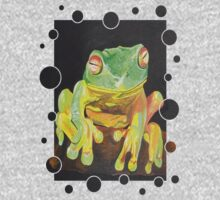 Green Tree Frog Kids Tee