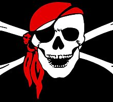 Pirate Party, Pirate, Cap, Skull & Crossbones, Jolly Roger by TOM HILL - Designer