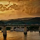 Sunset on the Tennessee by Phillip M. Burrow
