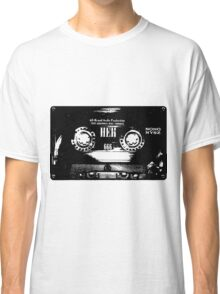 Cassette Tape Mixtape Stencil 4 Sticker Classic T-Shirt