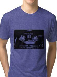 Cassette Tape Mixtape Stencil 4 Sticker Tri-blend T-Shirt