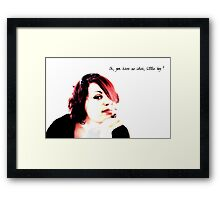 Oh, you have no idea, little boy Framed Print