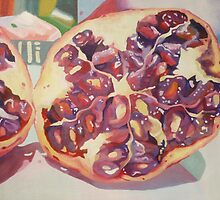 Pomegranate painting by Abigail Littlewood