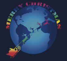Merry Christmas colored Kids Tee