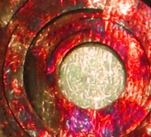 RED Metal Shield-t Sticker