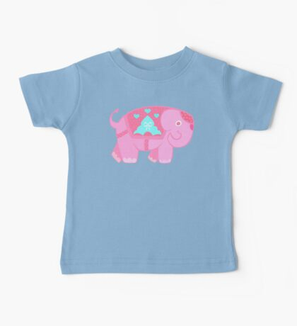 Elly pink Baby Tee