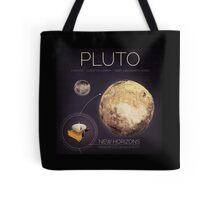 Planet Pluto Infographic NASA Tote Bag