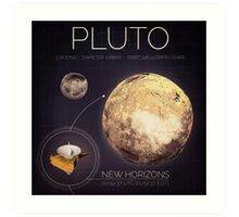 Planet Pluto Infographic NASA Art Print