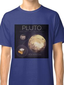 Planet Pluto Infographic NASA Classic T-Shirt