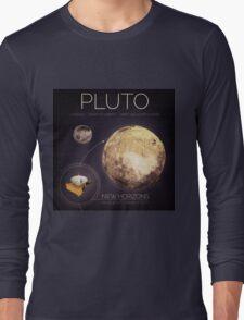 Planet Pluto Infographic NASA Long Sleeve T-Shirt