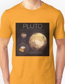 Planet Pluto Infographic NASA Unisex T-Shirt