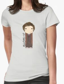 Tenth Doctor Doctor Who kokeshi doll Womens Fitted T-Shirt
