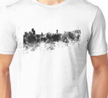 Seoul skyline in black watercolor Unisex T-Shirt