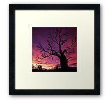 An amazing sunset! Framed Print