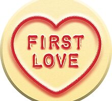 First Love Heart Sweetheart Candy Sticker by ukedward