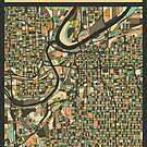 KANSAS CITY MAP by JazzberryBlue