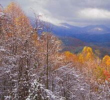 AUTMN SNOW,MORTON OVERLOOK by Chuck Wickham