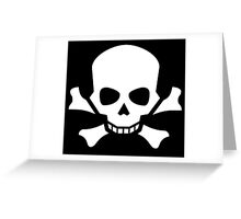 Skull and Crossbones, Halloween, Pirate, Death, Poison, White Greeting Card