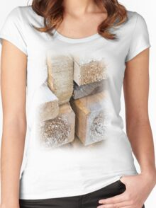 Wood is home Women's Fitted Scoop T-Shirt