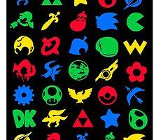 Super Smash Logos Phone Case (BLACK) by Franjolos
