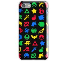 Super Smash Logos Phone Case (BLACK) iPhone Case/Skin