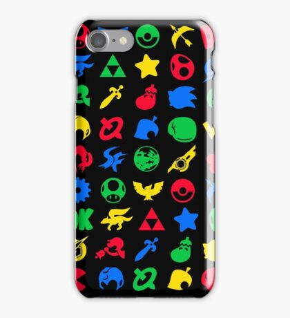 Super Smash Logos Phone Case (BLACK) iPhone Case/Skin