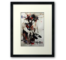 'the hand that feeds' Framed Print