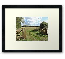 Walk With Love & Reverence  Framed Print