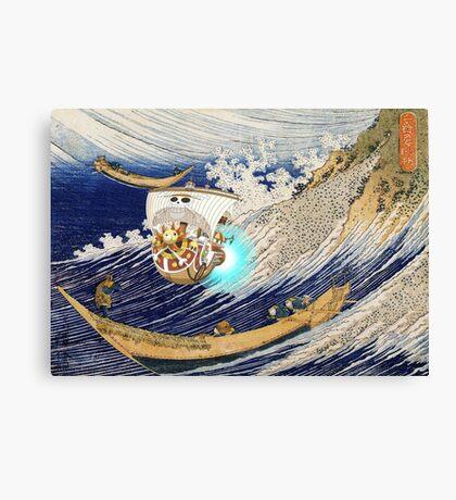 Thousand Sunny Hokusai Burst Canvas Print