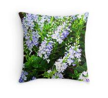 Flowering Hebe Throw Pillow