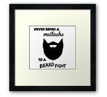Funny Bearded Shirt Framed Print