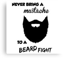 Funny Bearded Shirt Canvas Print