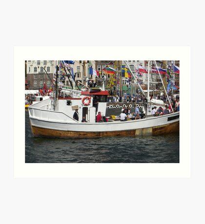 Tall ships race in Bergen Art Print