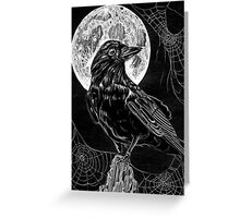 Midnight Crow Greeting Card
