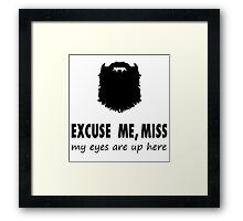 Funny Beard-ed Shirt Framed Print