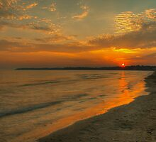Sunset on Wyldewood Beach by © Hany G. Jadaa © Prince John Photography