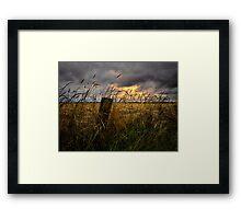 Willamette Valley Harvest Time Framed Print