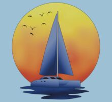 Catamaran Sailboat by Packrat