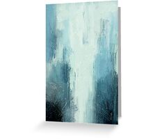 Water Fall in Blue Greeting Card