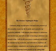 Nursing Pledge Poster by Packrat