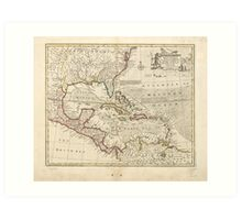 Map of the West Indies by Emanuel Bowen (1752) Art Print