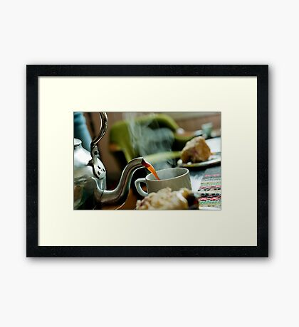 Retro Coffee Pot Framed Print