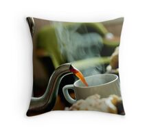 Retro Coffee Pot Throw Pillow