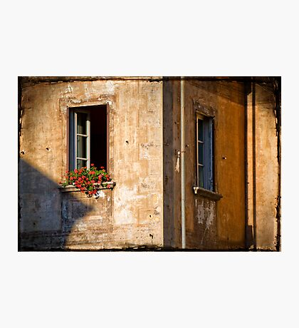 Window with geraniums Photographic Print