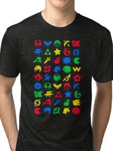 Smash Logo Print Poster Tri-blend T-Shirt